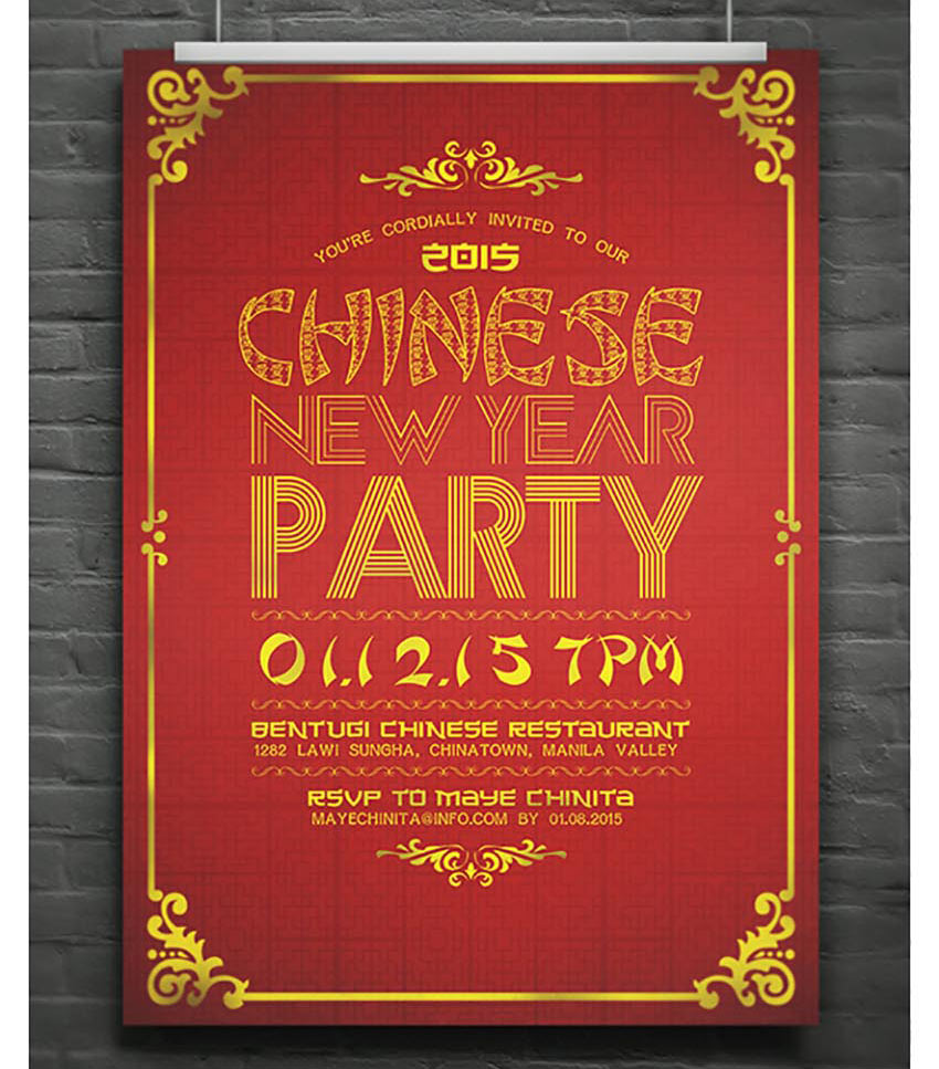 Elegant Chinese New Year Flyer