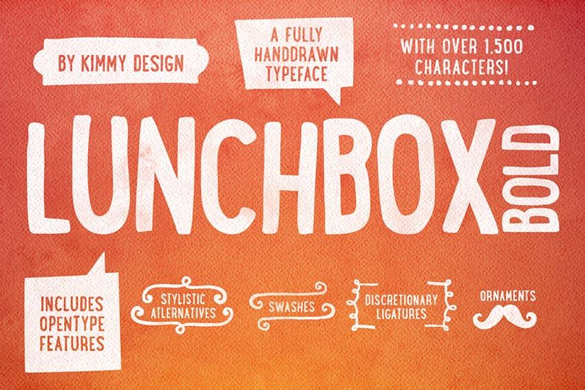 Lunchbox Bold Font