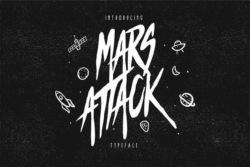 Mars Attack Typeface