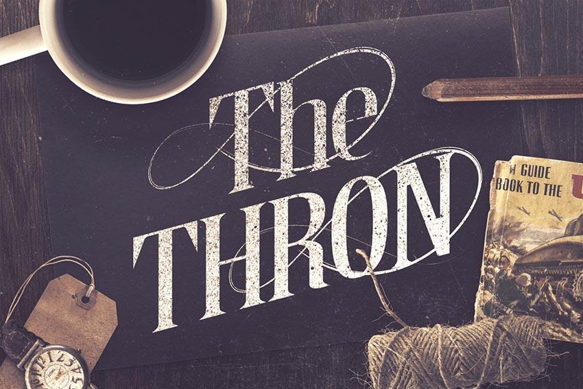 The Thron Typeface