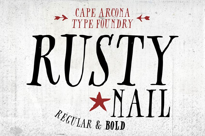 CA Rusty Nail Font