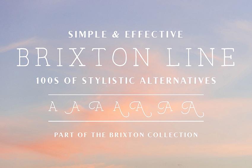 Brixton Line Font