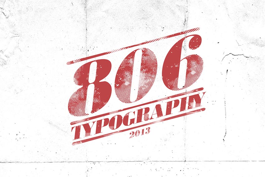 806 Typography Font