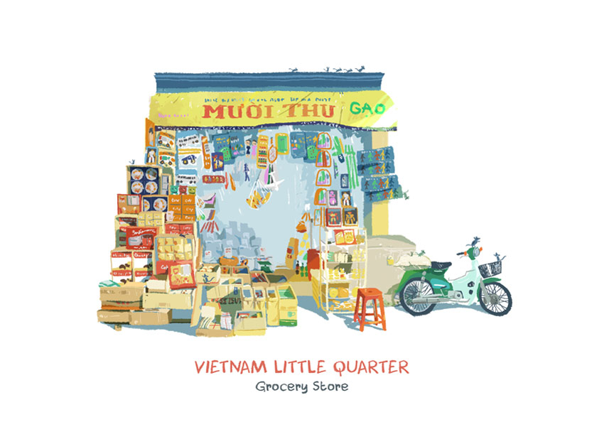 Vietnam Little Quarter by Rong Pham