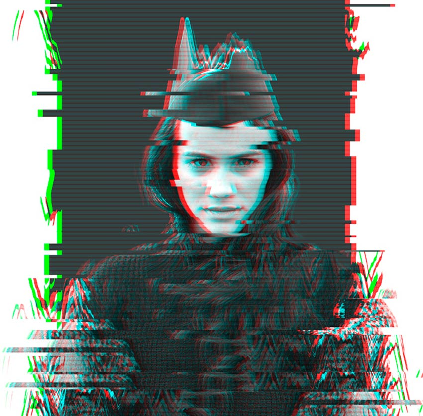 Glitch Photo Effect Alternative Version by Melody Nieves