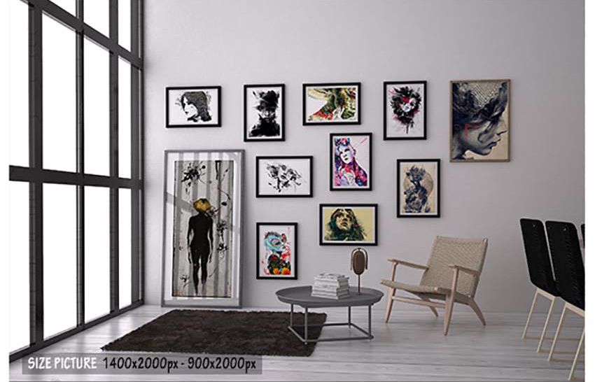 Picture Art Collage Mockup