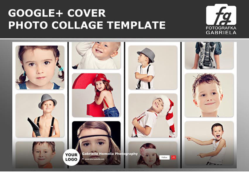 Google Photo Collage Photoshop Template