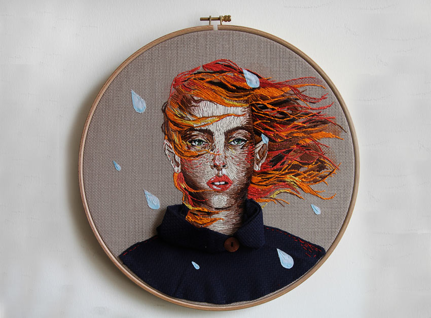 Embroidery - Rainy Day by Ezgi Pamir