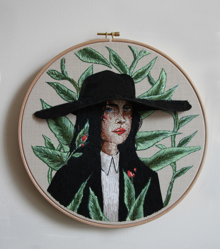 Embroidery Portrait by Ezgi Pamir