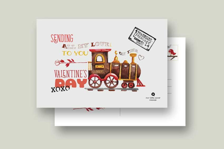 Valentines Day Postcard