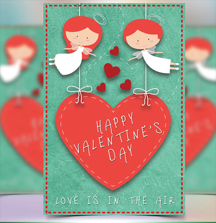 Angel Valentines Day Card