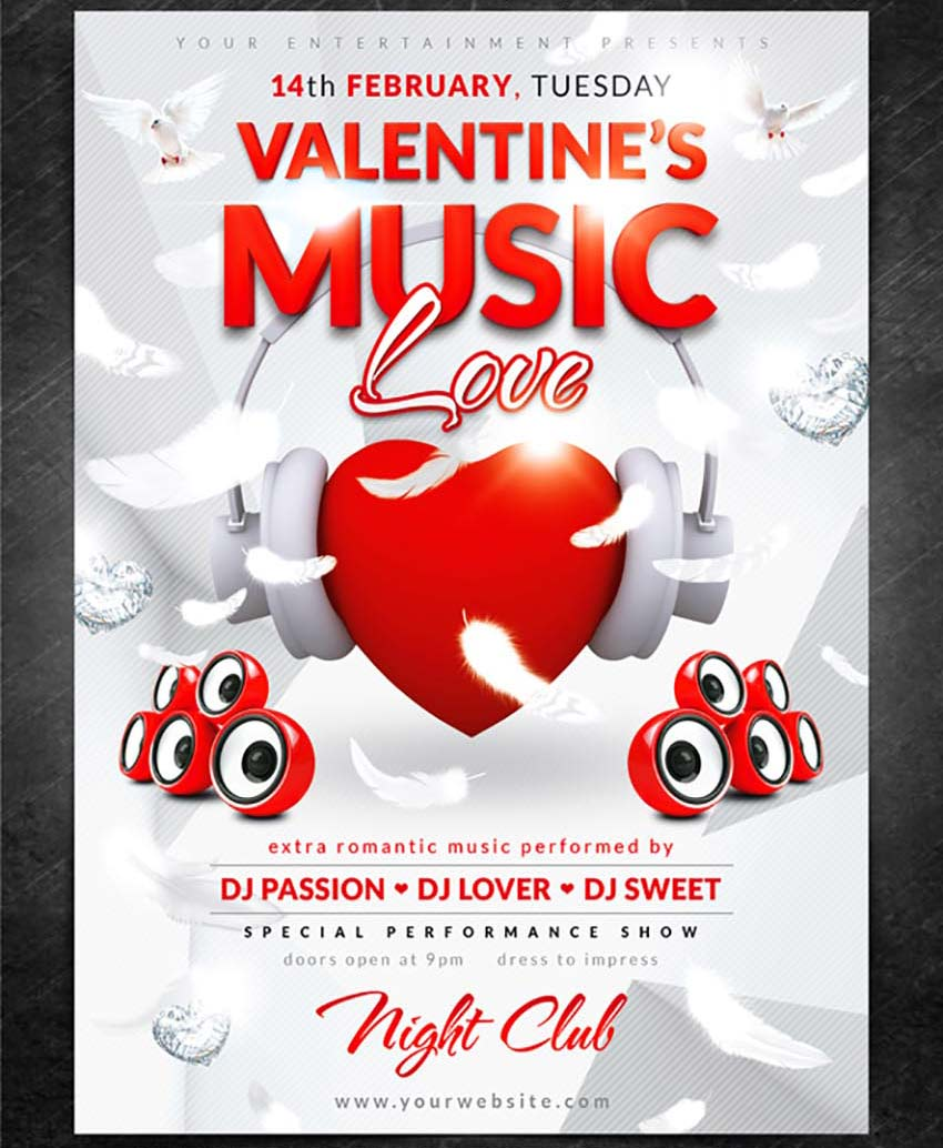 Love Music Party Flyer