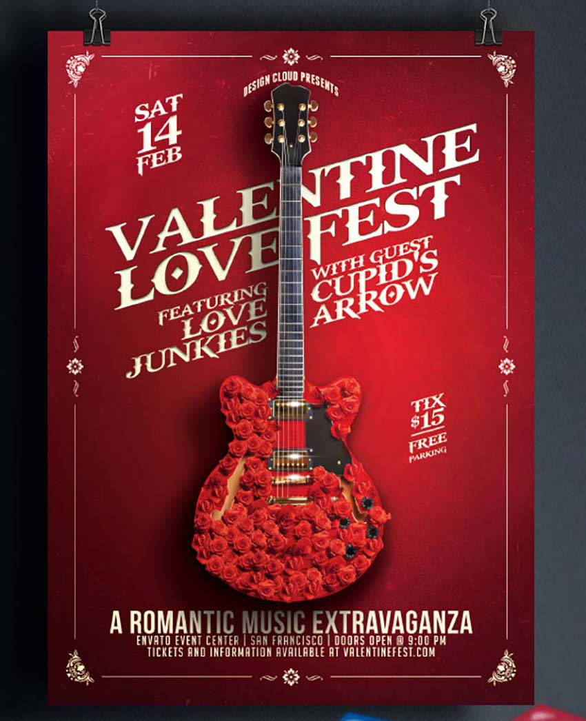 Valentine Love Fest Flyer Template
