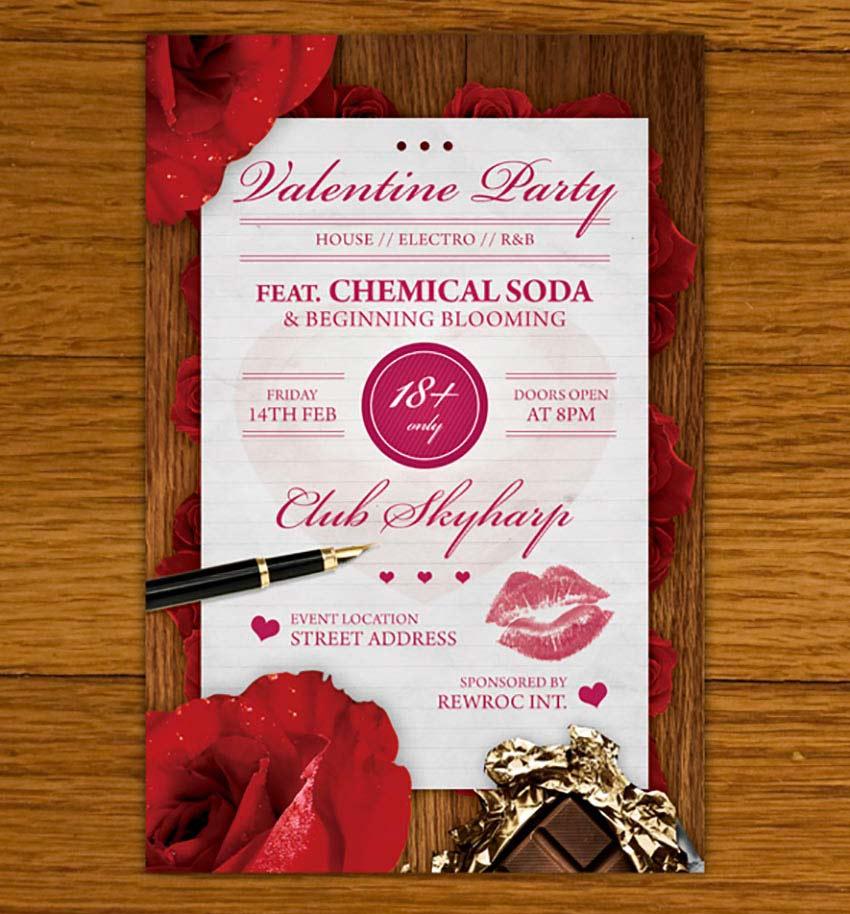 Valentine Invitation Flyer