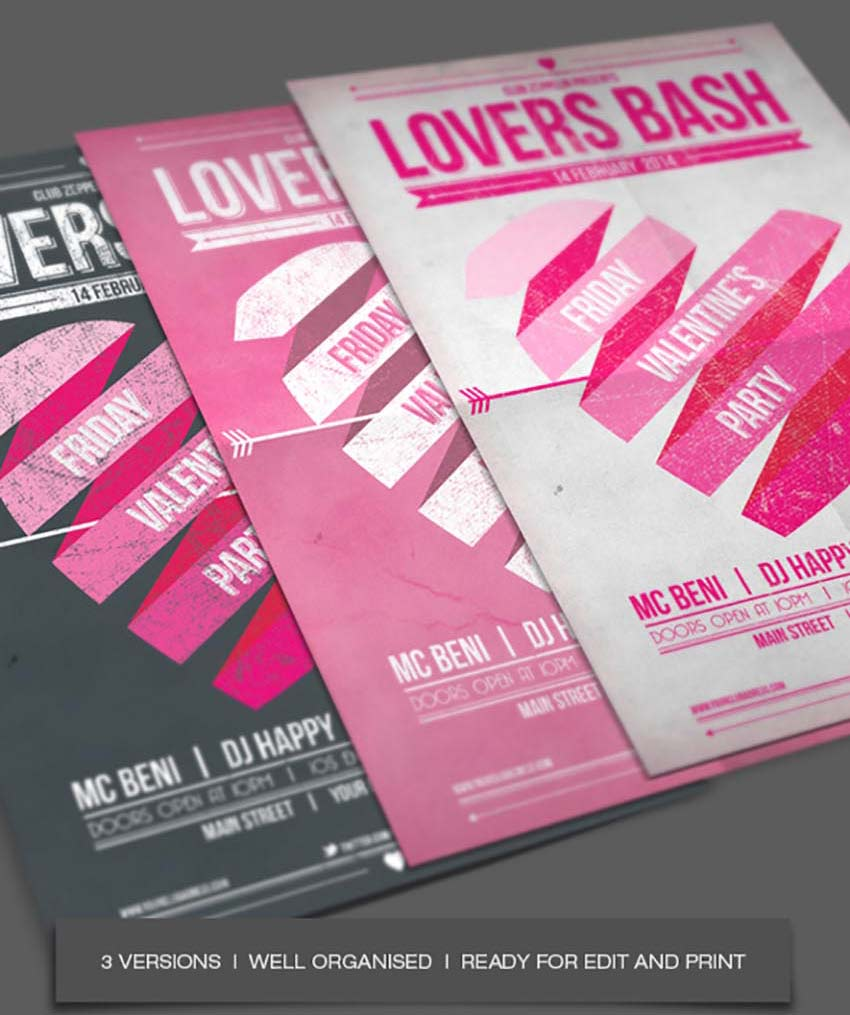 Lovers Bash Valentines Party Flyer