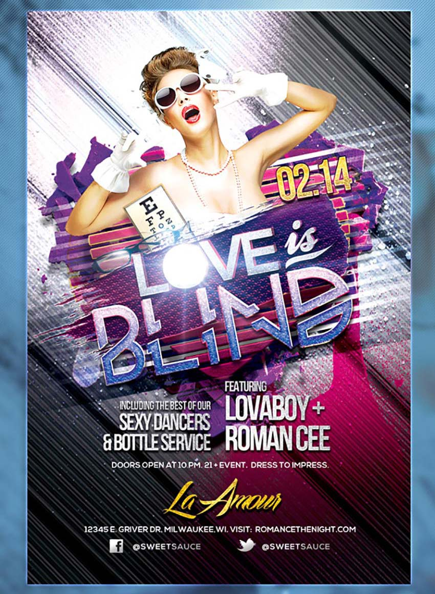 Love Is Blind Party Flyer