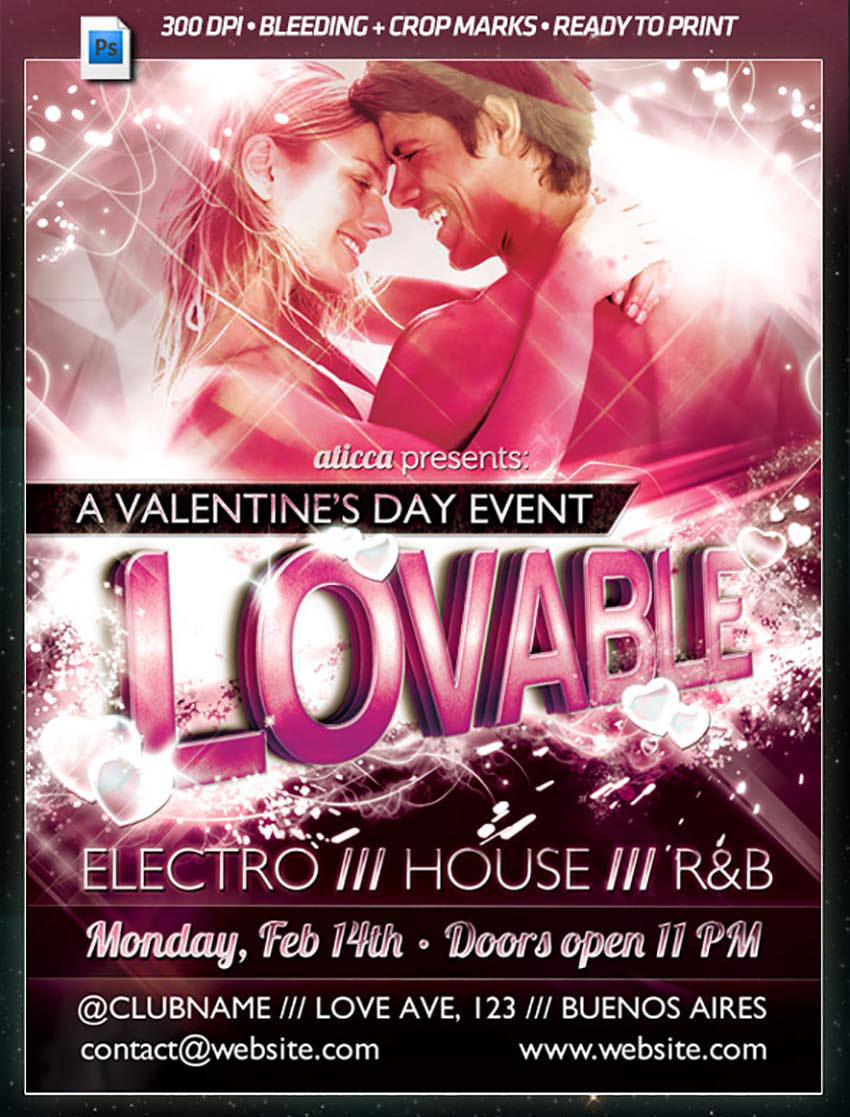 Lovable - Valentines Poster Template