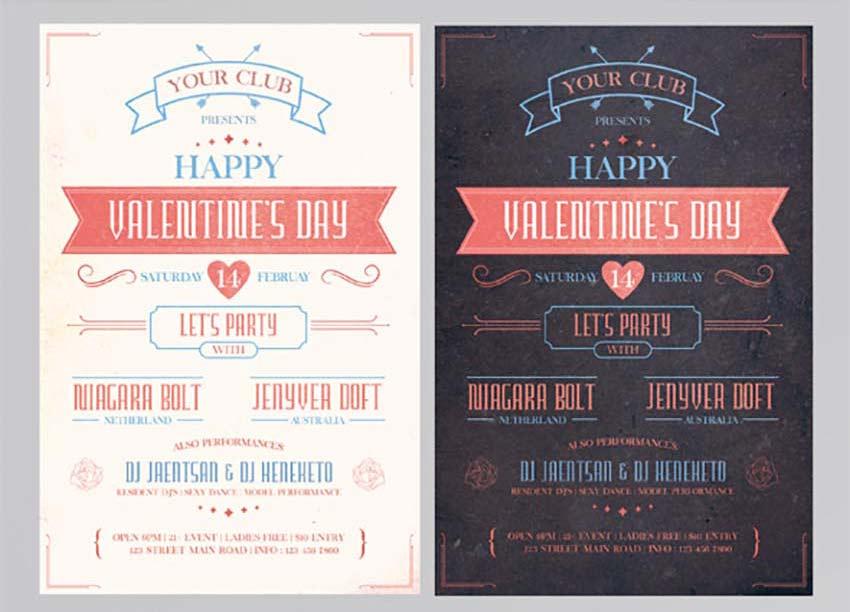 Vintage Valentines Day Flyer