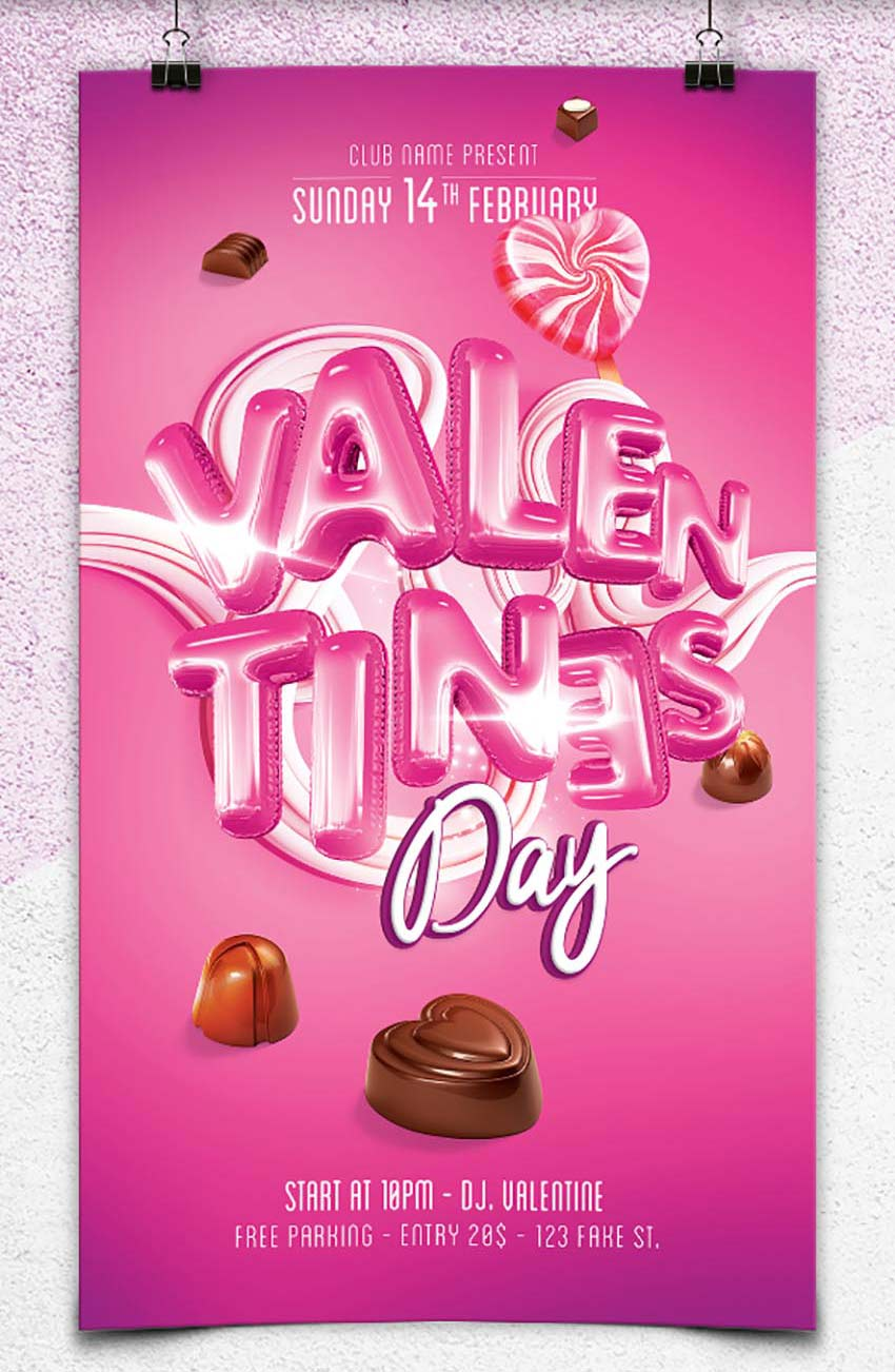 Valentines Candy Flyer