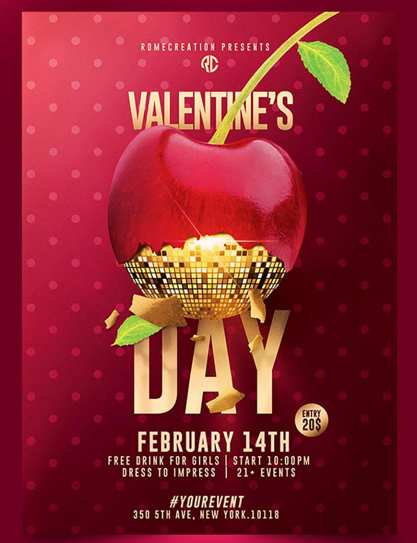 Share The Love With 49 Valentines Day Templates Flyers And Cards
