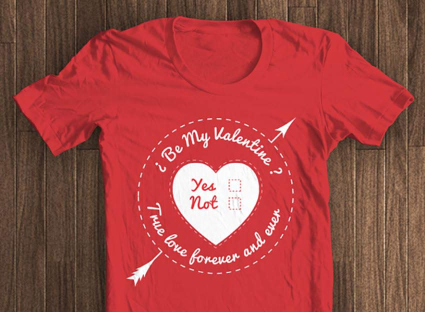 Valentines Day T-shirt Template