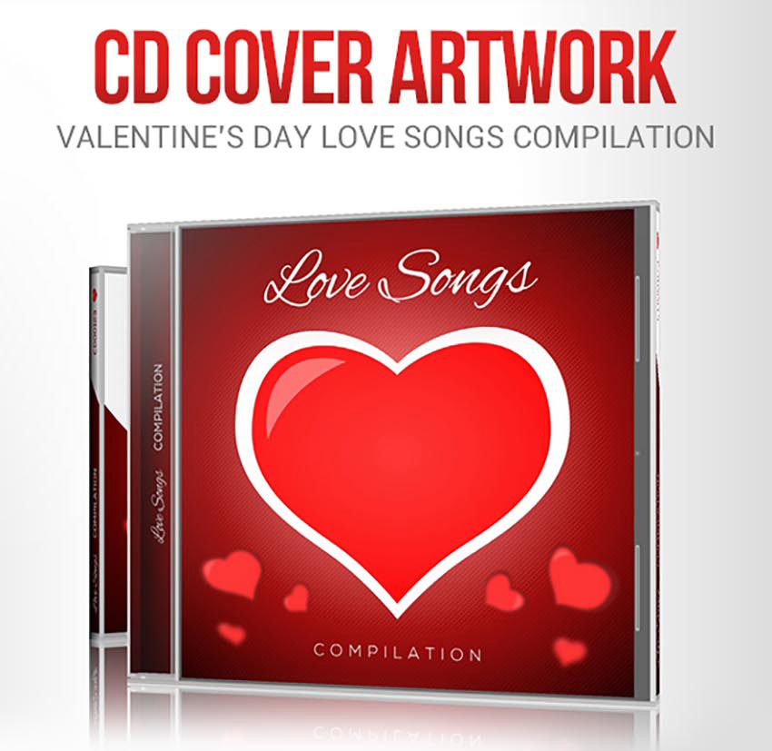 Share the love with 49 valentines day templates flyers and cards love songs for valentines day cd cover artwork maxwellsz