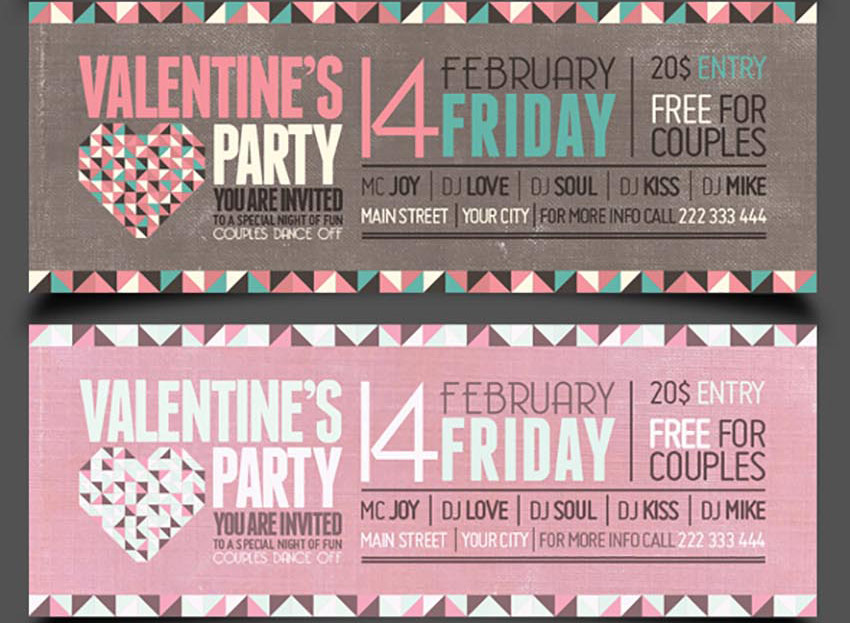 Valetines Day Party FB Covers