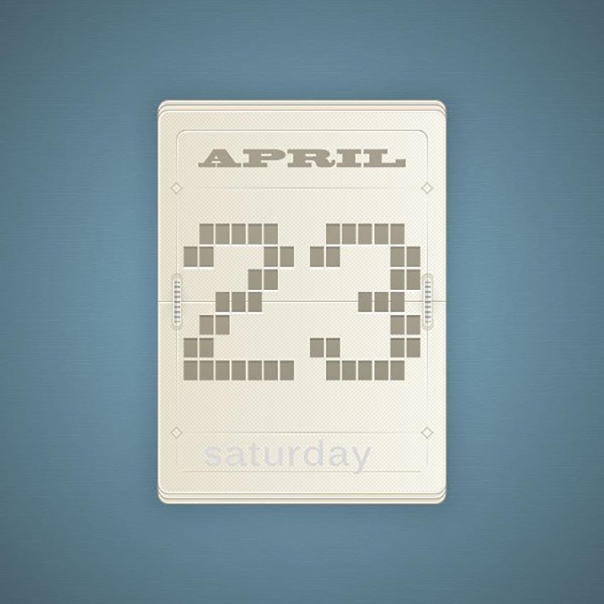 Vector Flip Calendar by Butu