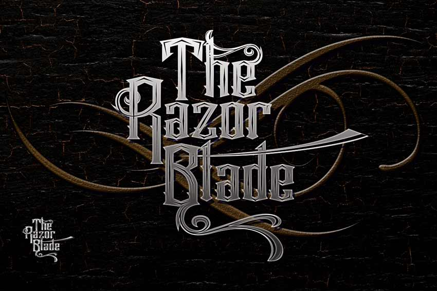 The Razor Blade Cursive Tattoo Font