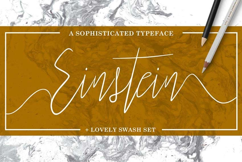 Einstein Tattoo Fonts Cursive Elegant