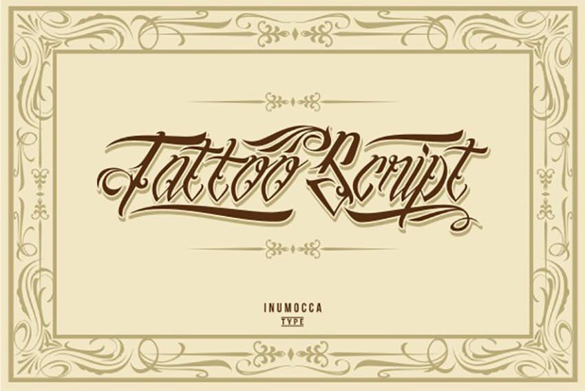 Ben noto 50 Epic Tattoo Fonts DR18