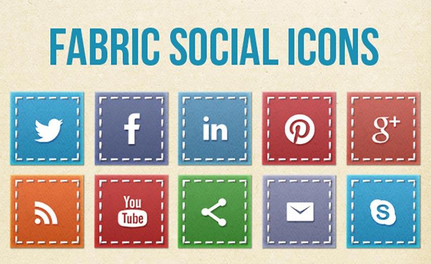 Fabric Social Media Icons