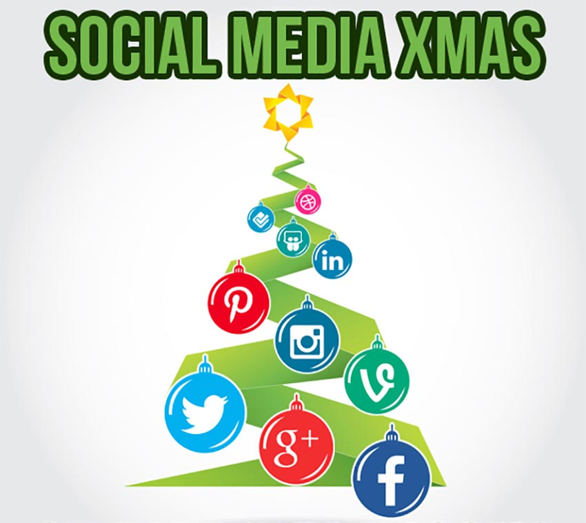 Christmas Social Media Icon Set