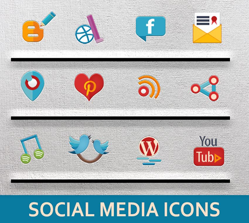 31 Social Media Icons