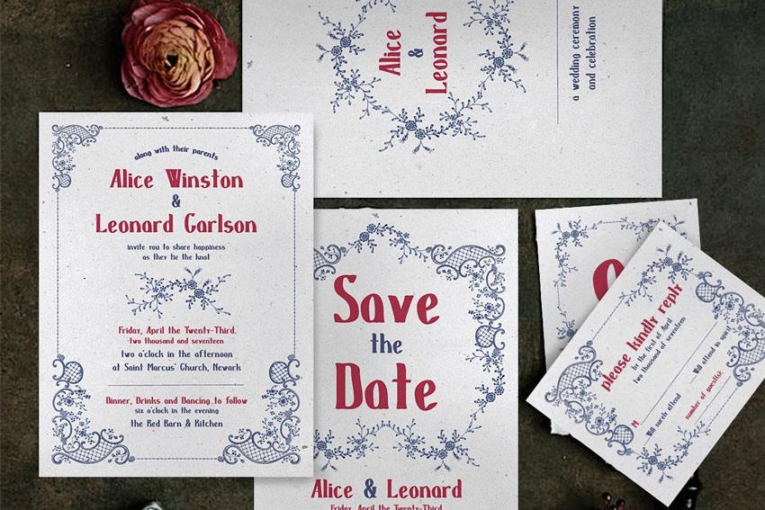 50 stylish wedding invitation templates embroidery wedding invitation stopboris Images