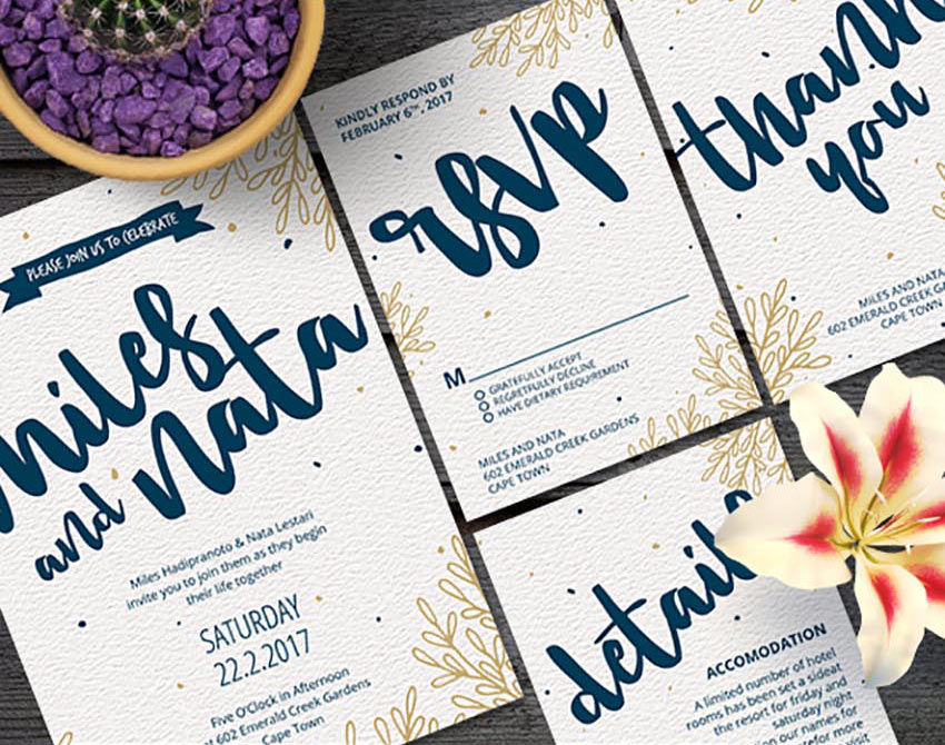 50 stylish wedding invitation templates wedding invitation set stopboris Gallery