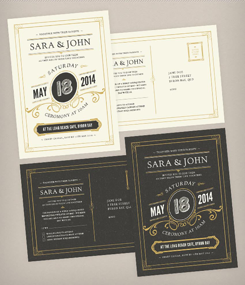 49 Stylish Wedding Invitation Templates
