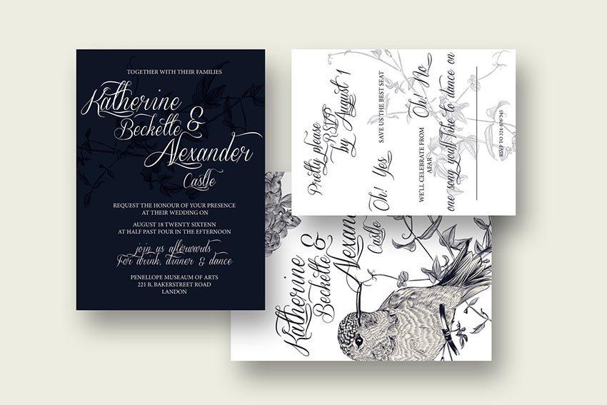 50 Stylish Wedding Invitation Templates