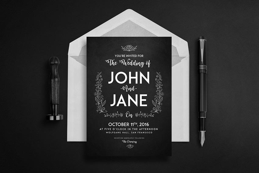 Wedding Set - Invitation Greeting Card