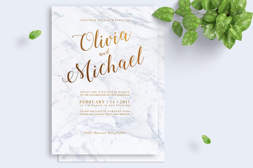 Marbel Wedding Invitation