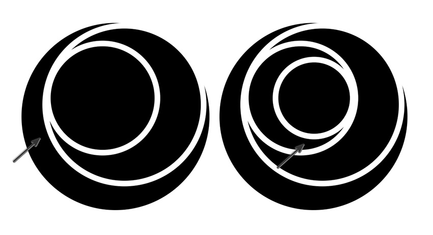 Duplicate the Circles and Position them into Place