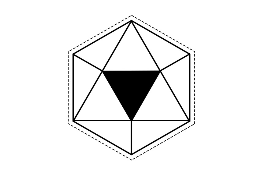 The Final Hexagon and Triangle Geometric Design