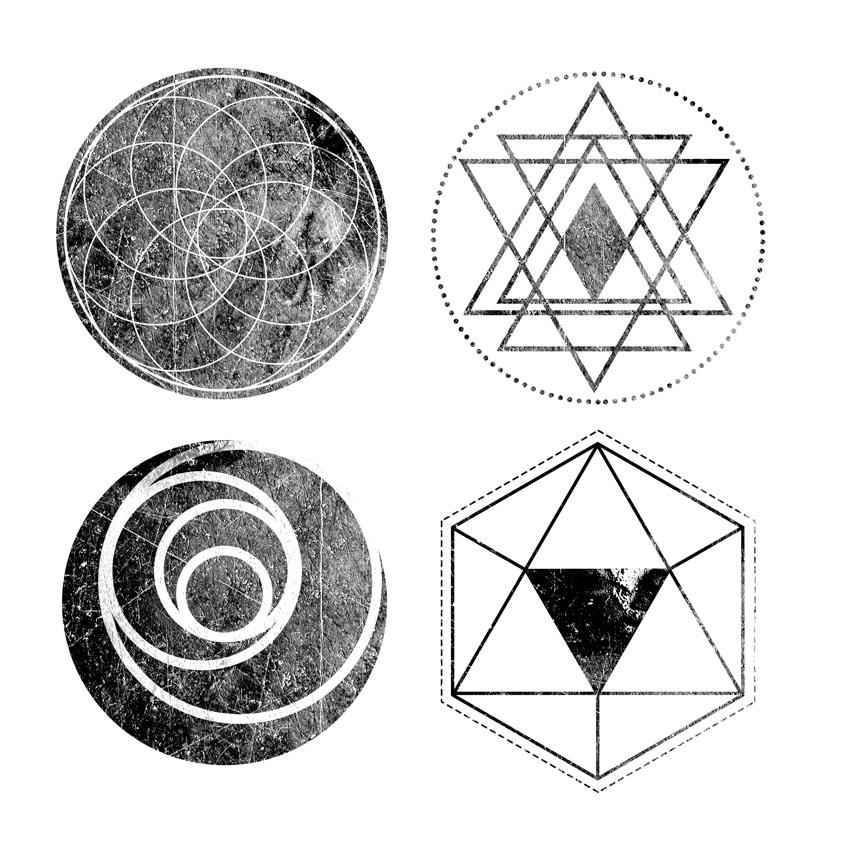 Textured Geometric Designs Adobe Photoshop Tutorial