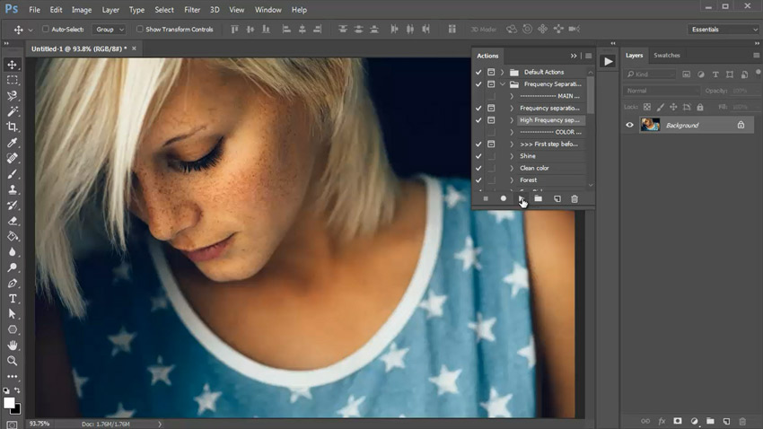 Photoshop in 60 Seconds: How to Use Frequency Separation Actions
