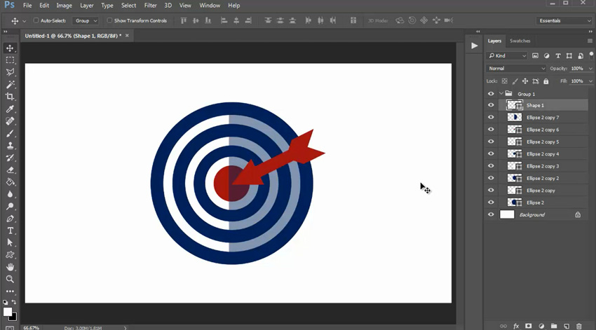 Creating Flat Designs in Adobe Photoshop