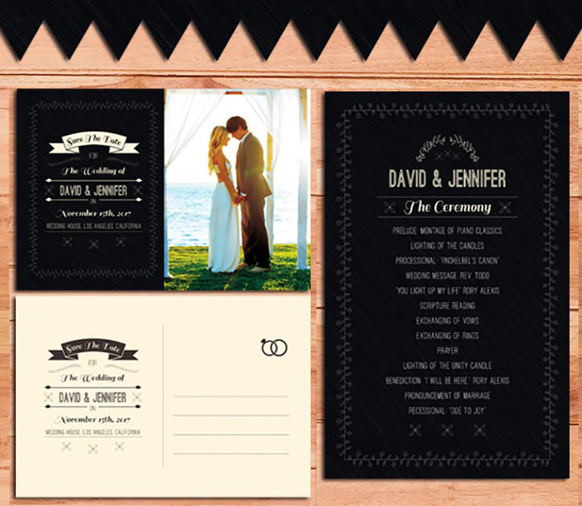 Wedding Invitation  Program Pack