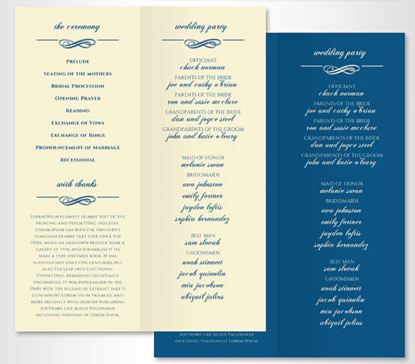 20 Elegant Wedding Program Templates