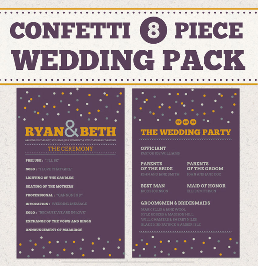 Confetti Wedding Pack