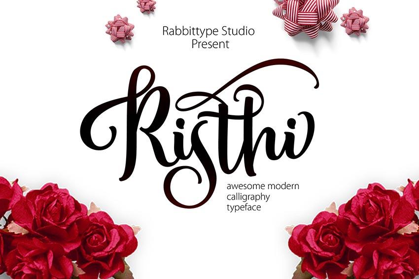 Risthi Script Curvy Cursive Fonts