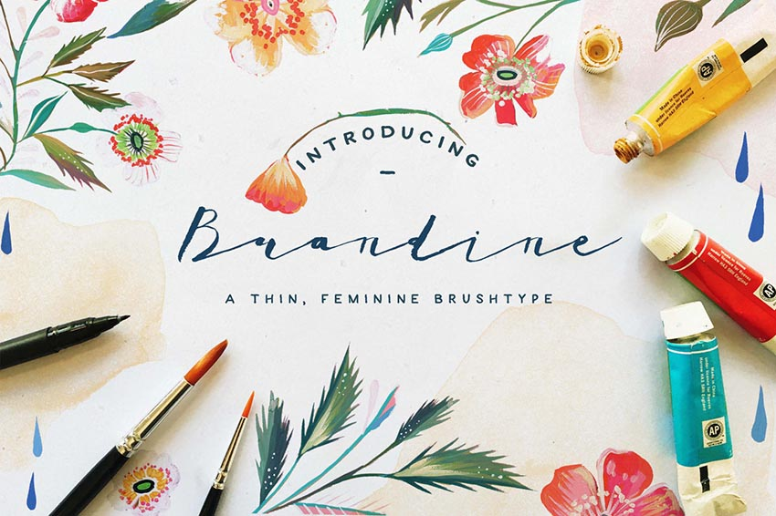 Brandine Awesome Cursive Letters Font